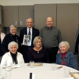 Audrey I, Carol S, Diane K, Jeanne P, Joann P, Steve C, Jim B, and John M were on hand for a celebration of Donn Stansbury's life on January 31, 2014.