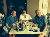 Bruce B, Phil T, and Steve C dined al fresco in Naples FL in February, 2015.