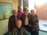 StuDev retirees Joann P, Steve C, Frances B & Audrey I helped Marguerite Ewald celebrate her 90th birthday in March 2016.