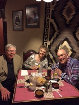 Sept 2017: John and Jo Muchmore enjoyed sharing an evening with retired faculty colleague Bob Tillotson in Albuquerque, NM.