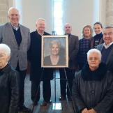 Dec'17: Barbara Barton's Memorial service attended by (clockwise) Jean & Richard Kolze (Board), William Kelly (Board), Tom McCarthy (Ed Fdtn), Dave McShane, Jeanne Pankanin, Cindy McShane, Vern Manke, Maria Coons, Joyce Manke