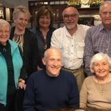 May'18 -- Joann P, Chris S, Nancy F, Bruce B, Phil T, Steve C, Audrey I -- happy gathering of some former Stu Dev faculty.