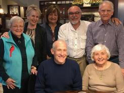 May'18 -- Joann P, Chris S, Nancy F, Bruce B, Phil T, Steve C, Audrey I -- happy gathering of some former Stu Dev faculty.