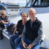 July 2019 - Tom Thompson & spouse getting ready for a whale watching cruise in Long Beach - we followed three gray whales for about 30 minutes!